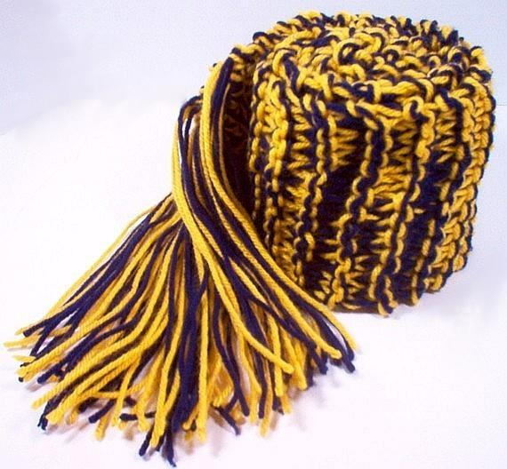 Team Sports Scarf Knitting Pattern