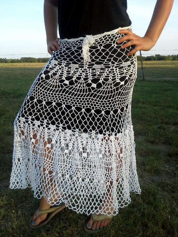 Lace Frenzy Skirt Crochet Pattern