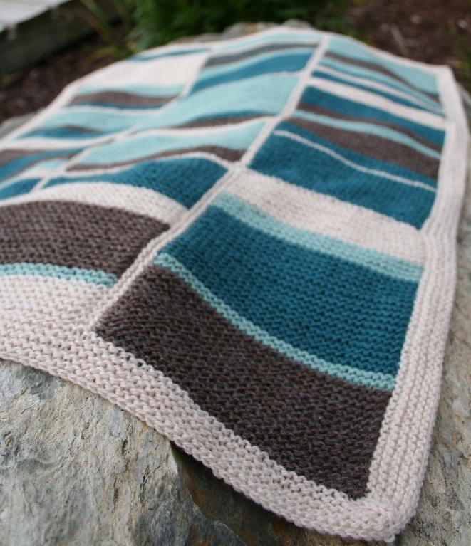 Beach Baby Blanket Knitting Pattern