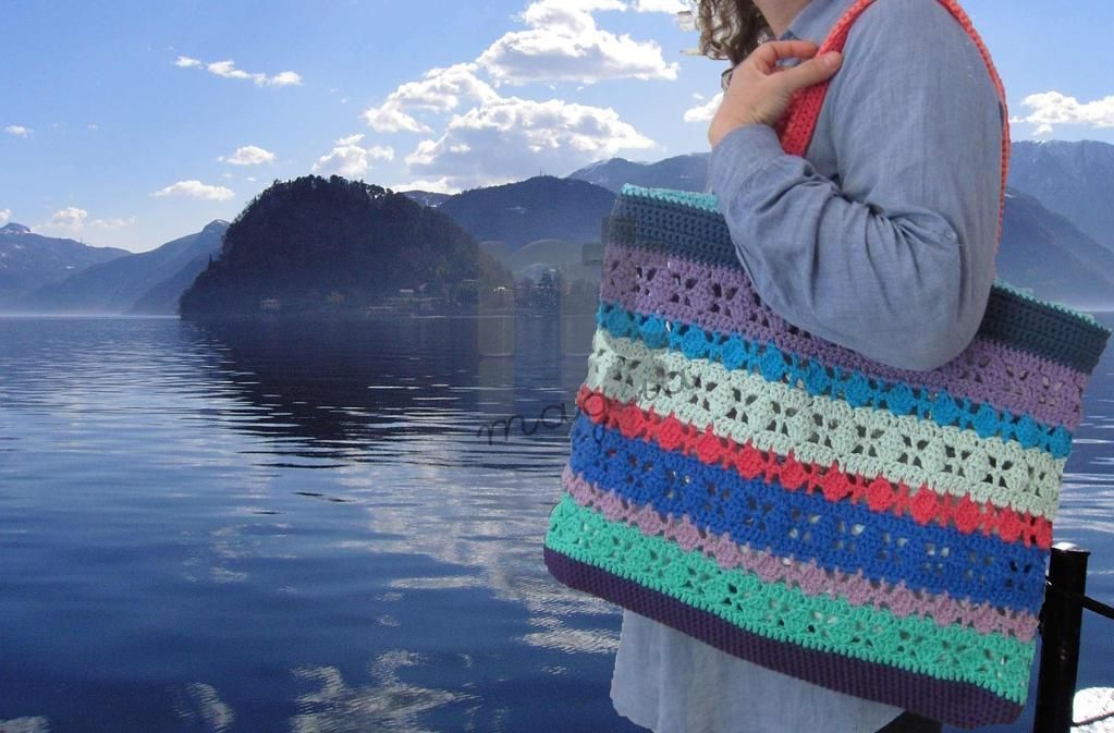 Borsona Bellagio Crochet Tote Bag FREE Pattern