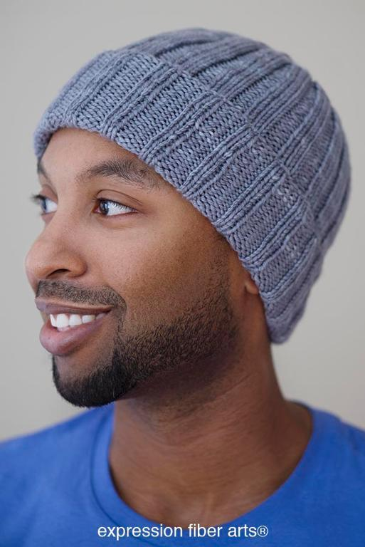 Boyfriend Beanie Hat FREE Knitting Pattern