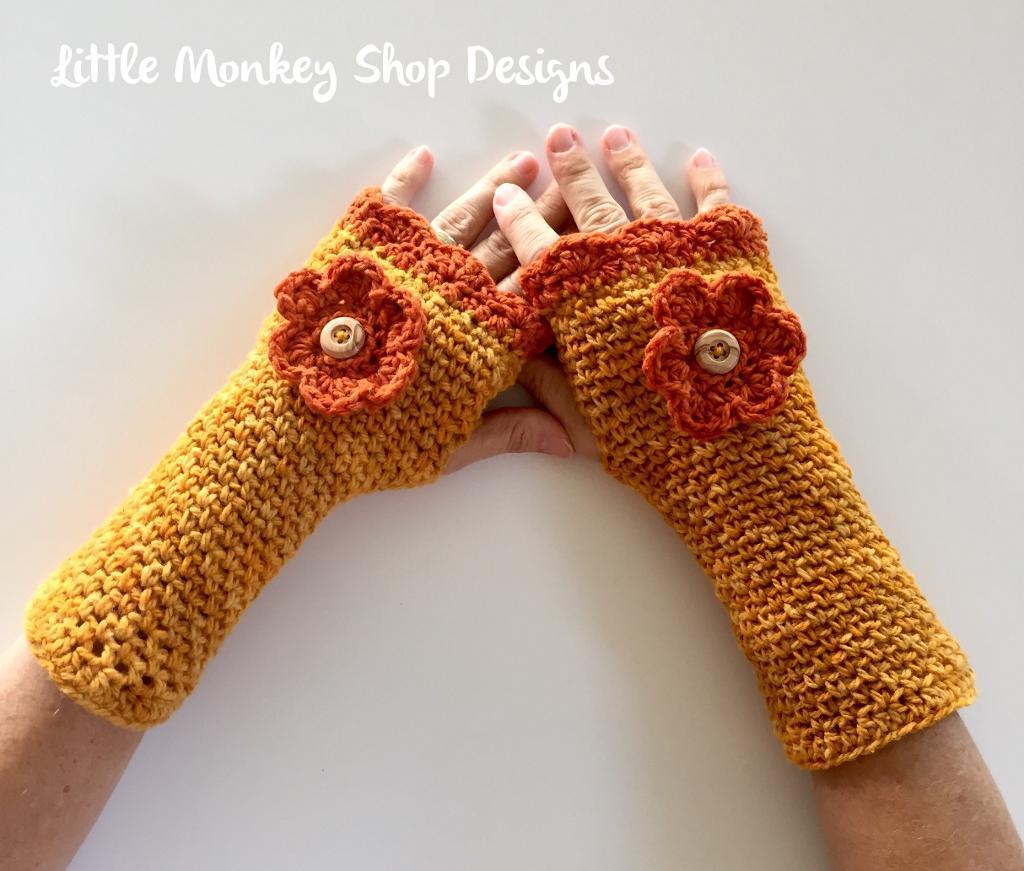 Shannon's Fingerless Gloves Crochet Pattern