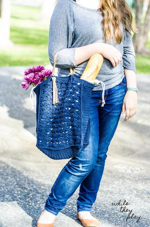 French Market Tote Crochet Pattern