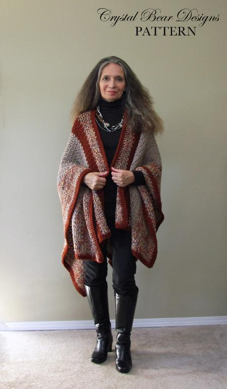 Crochet Ruana Wrap Pattern