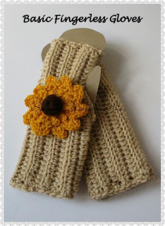 Basic Fingerless Gloves Crochet Pattern