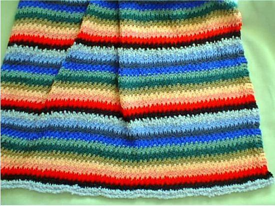 Scrap Yarn Afghan Knitting Pattern