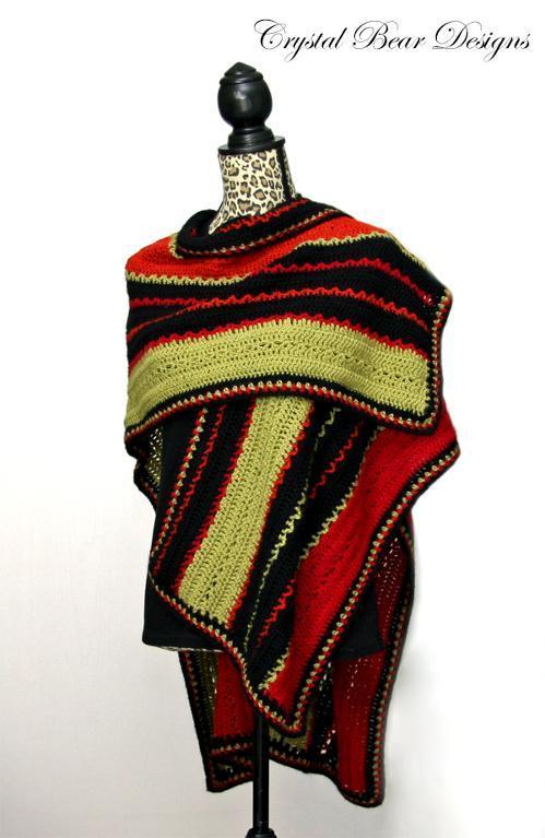 Lightweight Ruana Poncho Crochet Pattern