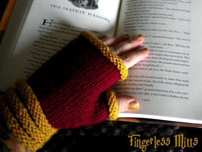 School of Wizardry Fingerless Gloves Knitting Pattern