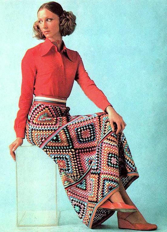 Granny Squares Maxi Skirt Crochet Pattern