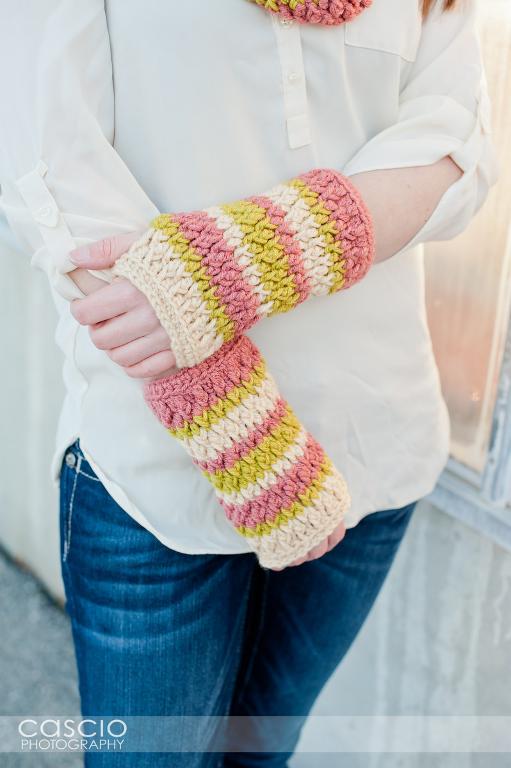 Firecracker Fingerless Gloves Crochet Pattern