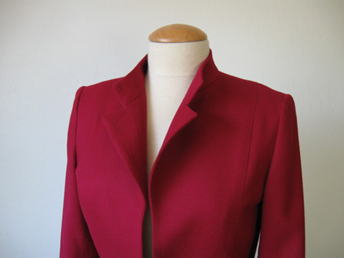 red jacket with long sleeves