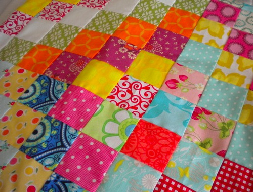 Patchwork Quilt Made from Scraps