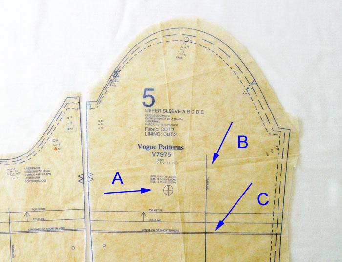 Sleeve Pattern Adjustment Lines