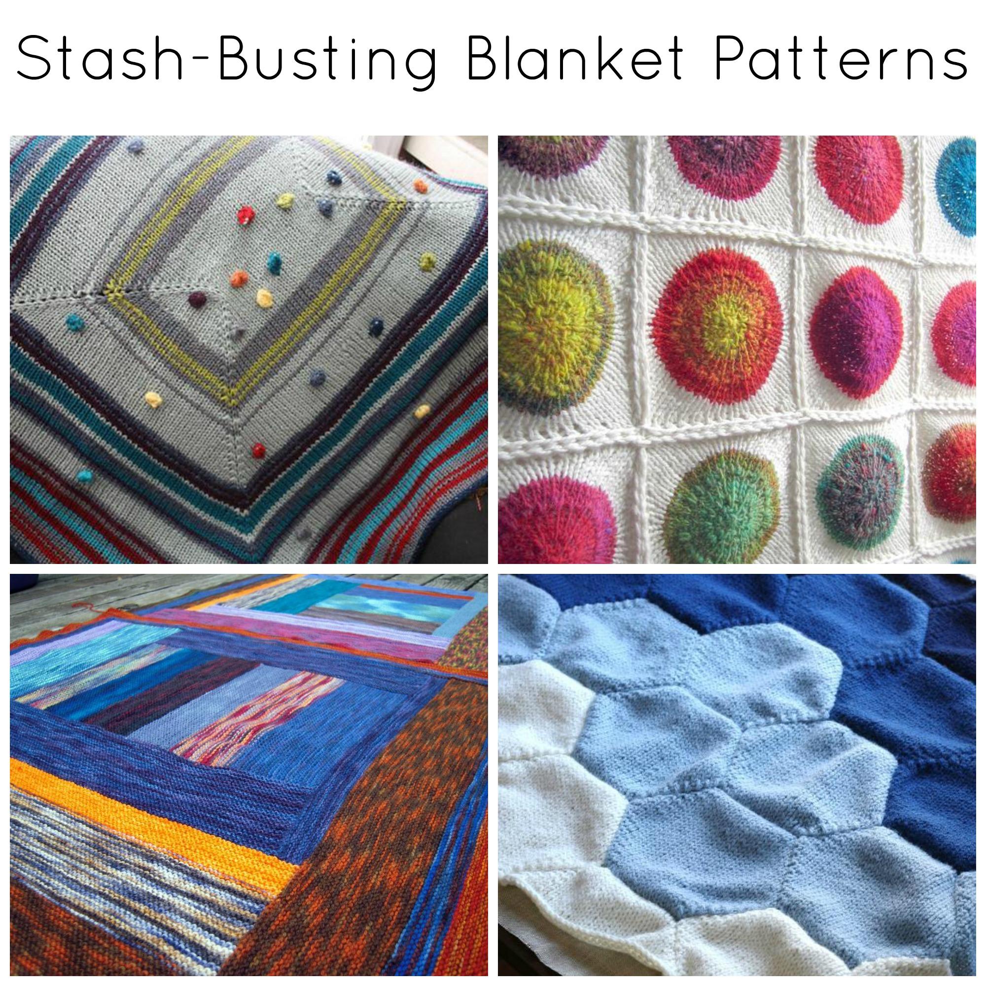 Stash-Busting Blanket Knitting Patterns