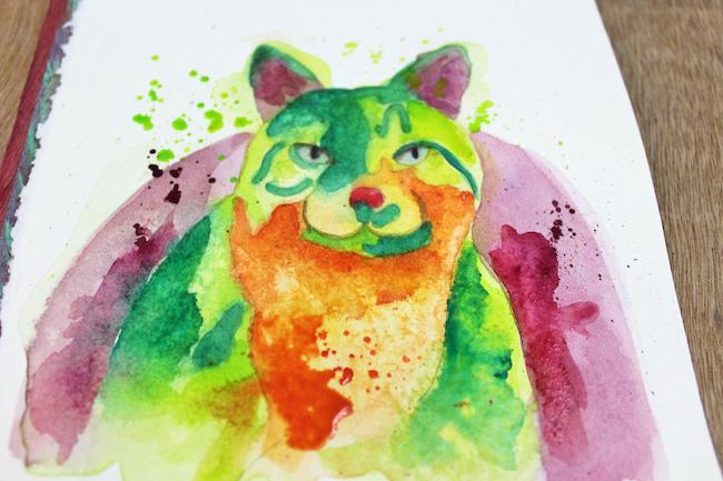 Painting Vibrant, Abstract Animal Art
