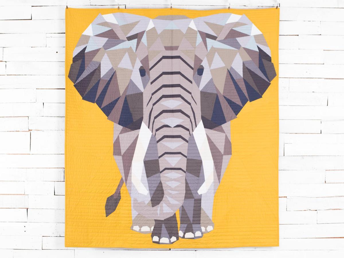 Modern Elephant Quilt Kit