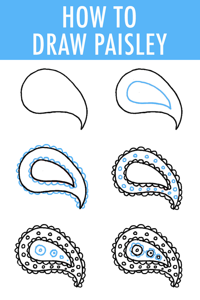 How to draw paisley