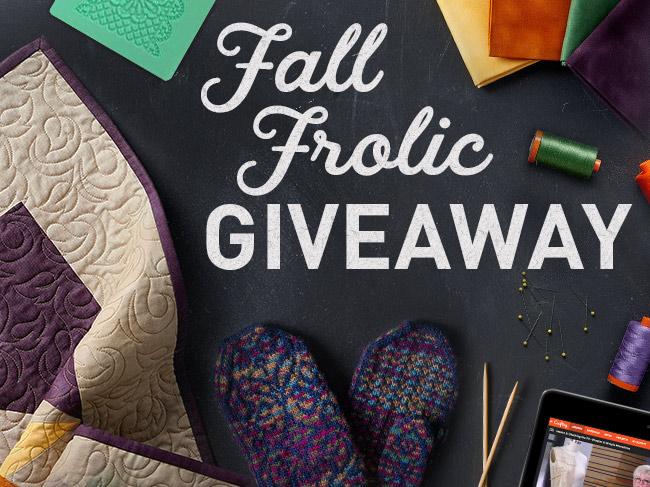 Bluprint's Fall Frolic Giveaway