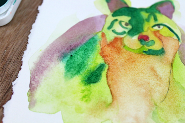 Work in Progress: Abstract Cat Painting