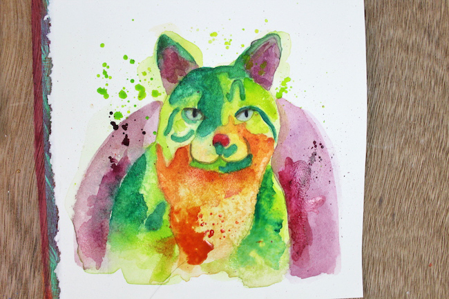 Learn to paint captivating, abstract animal art