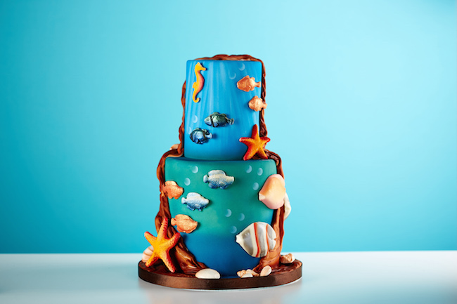 Airbrushed Underwater Cake by Dawn Butler