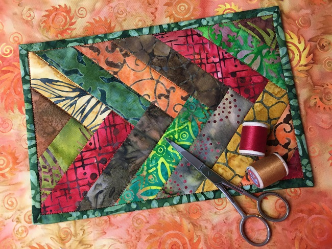 Batik Braid Mug Rug