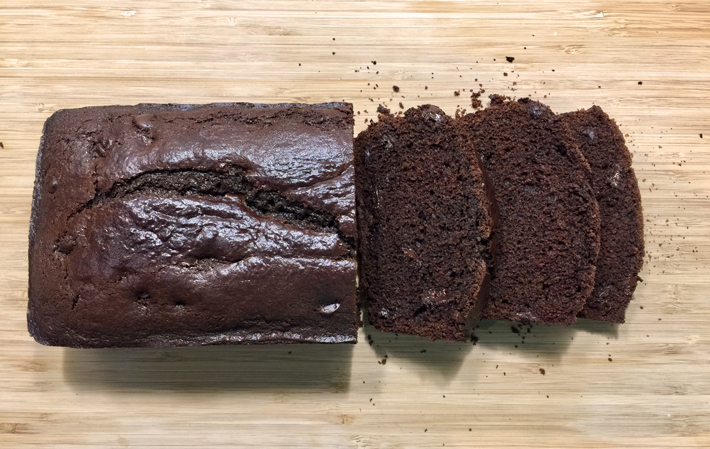chocolate bread loaf sliced