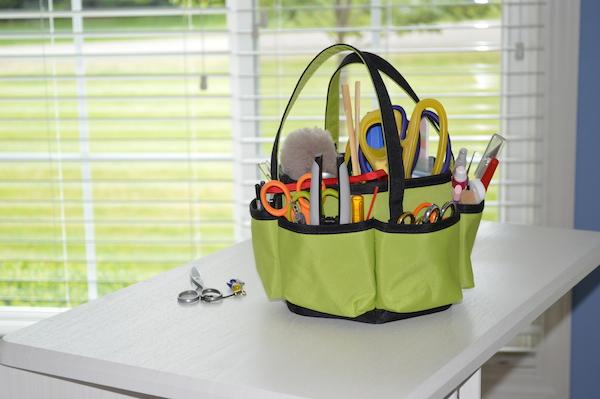 Kimberly Einmo's sewing tool kit
