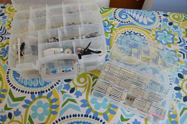 Kimberly Einmo's plastic storage boxes