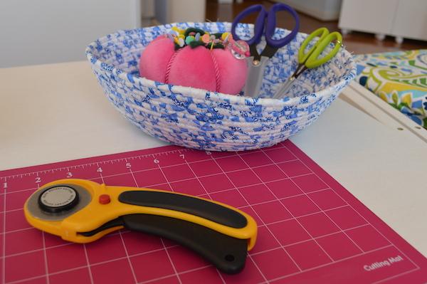 Kimberly Einmo's pink velvet pincushion