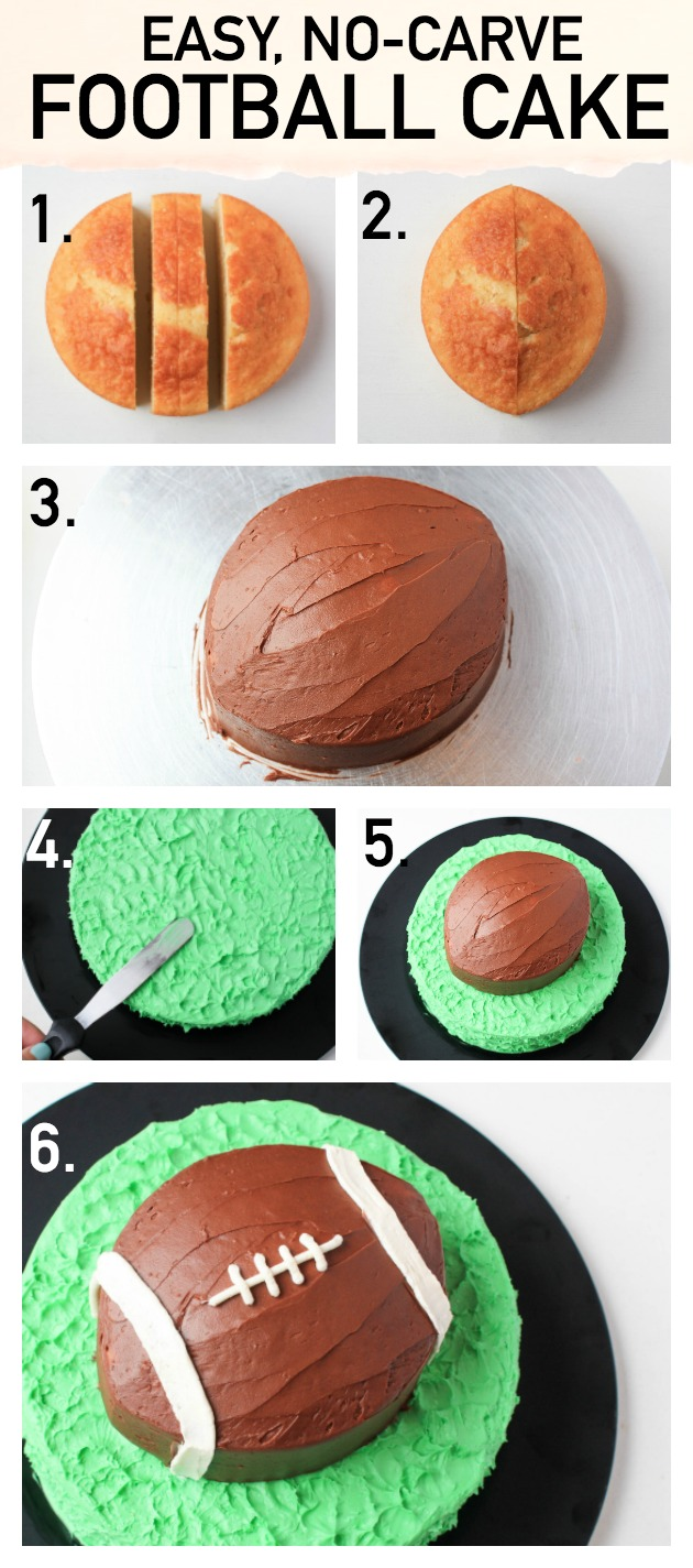 Make a simple (but impressive!) football cake with this step-by-step tutorial