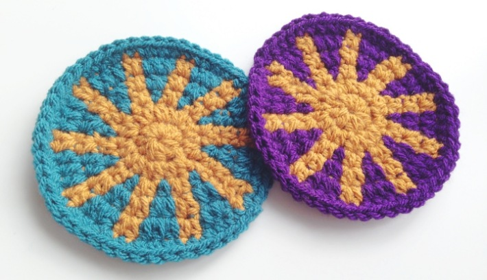 Free Tapestry-crochet-tutorial-aztec-coaster tutorial