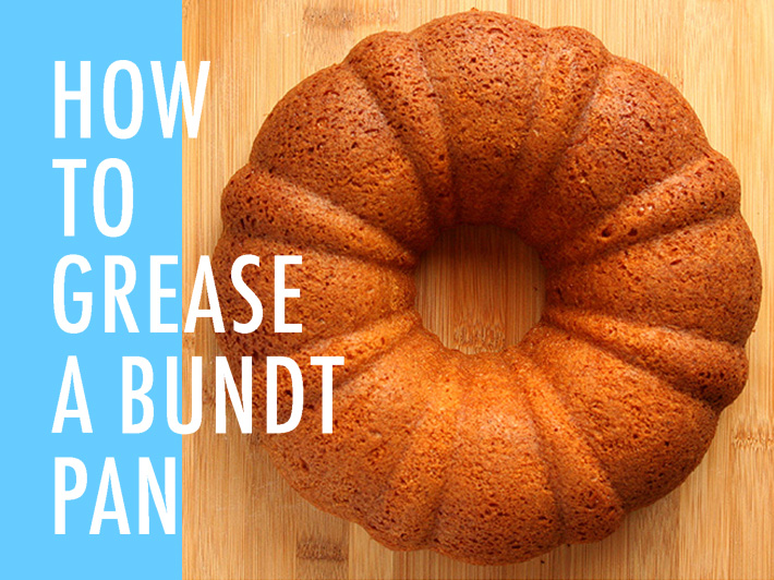 How to grease a bundt pan
