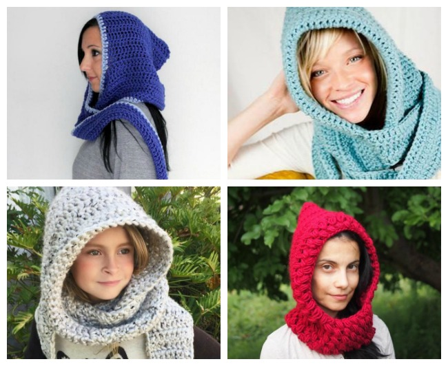 Hooded Scarf Crochet Patterns