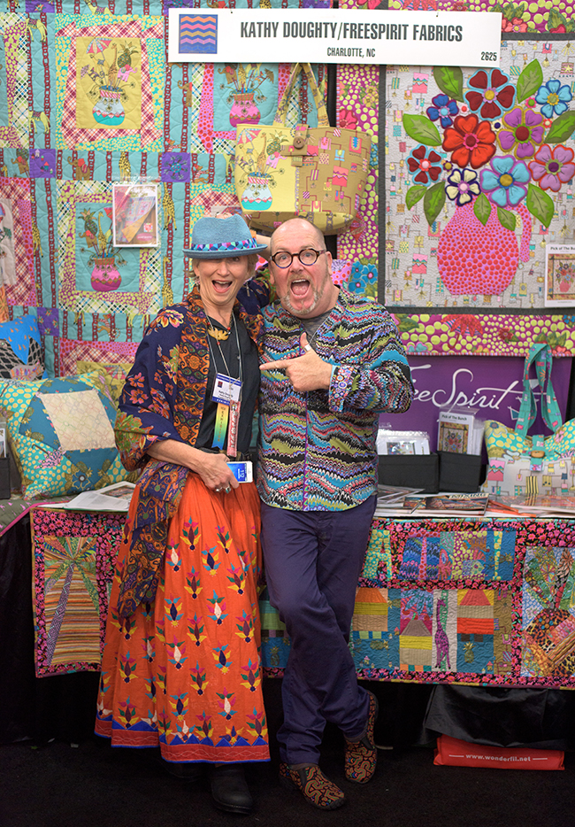 Kathy Doughty at Quilt Market