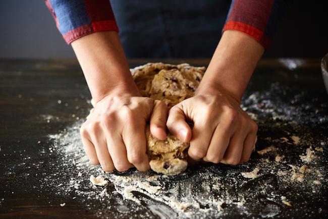Knead Stollen Bread Dough