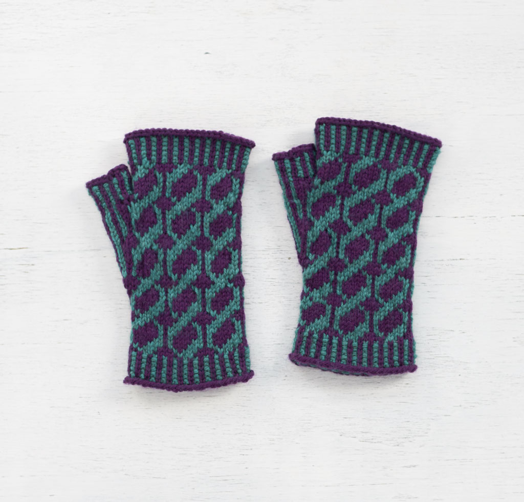 Purple and Teal Crosswait Mitts Kit