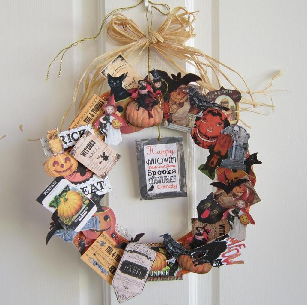 DIY Vintage Halloween Wreath