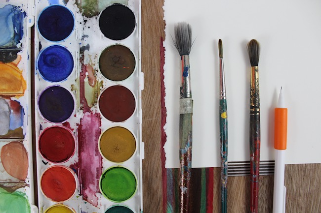 Supplies for Painting Abstract Watercolor Art