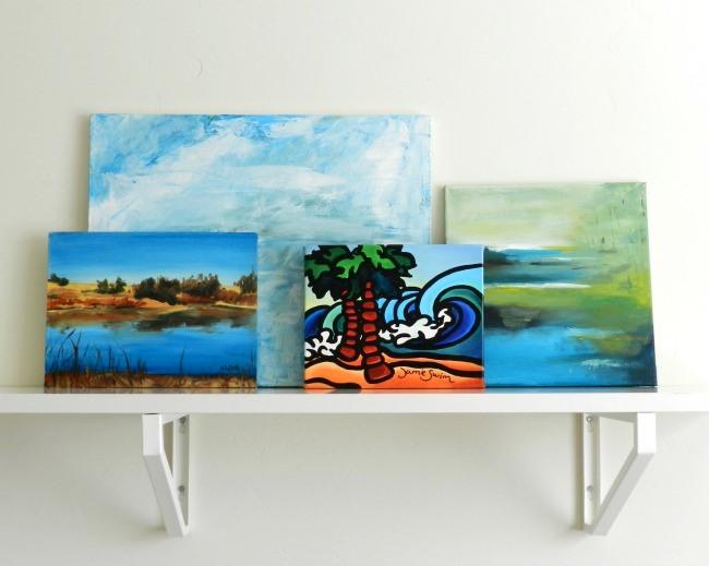 Artwork Displayed on a Shelf