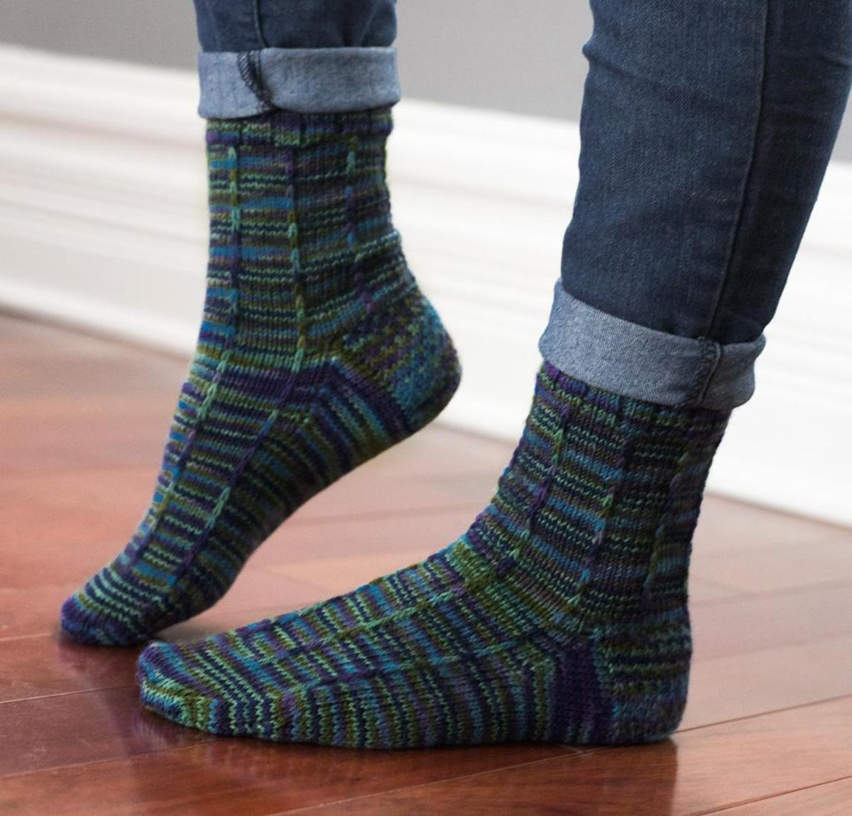 Atlantic Current Socks Knitting Kit