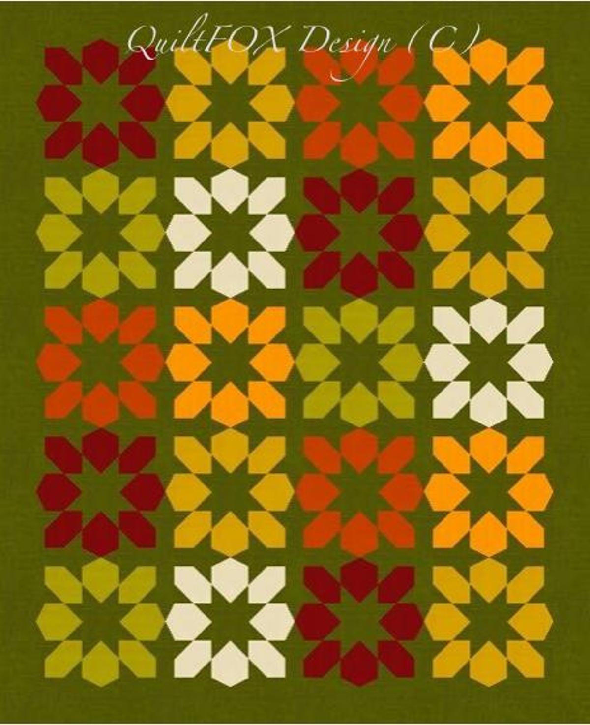 Fall Quilt Patterns: Autumn Blossoms