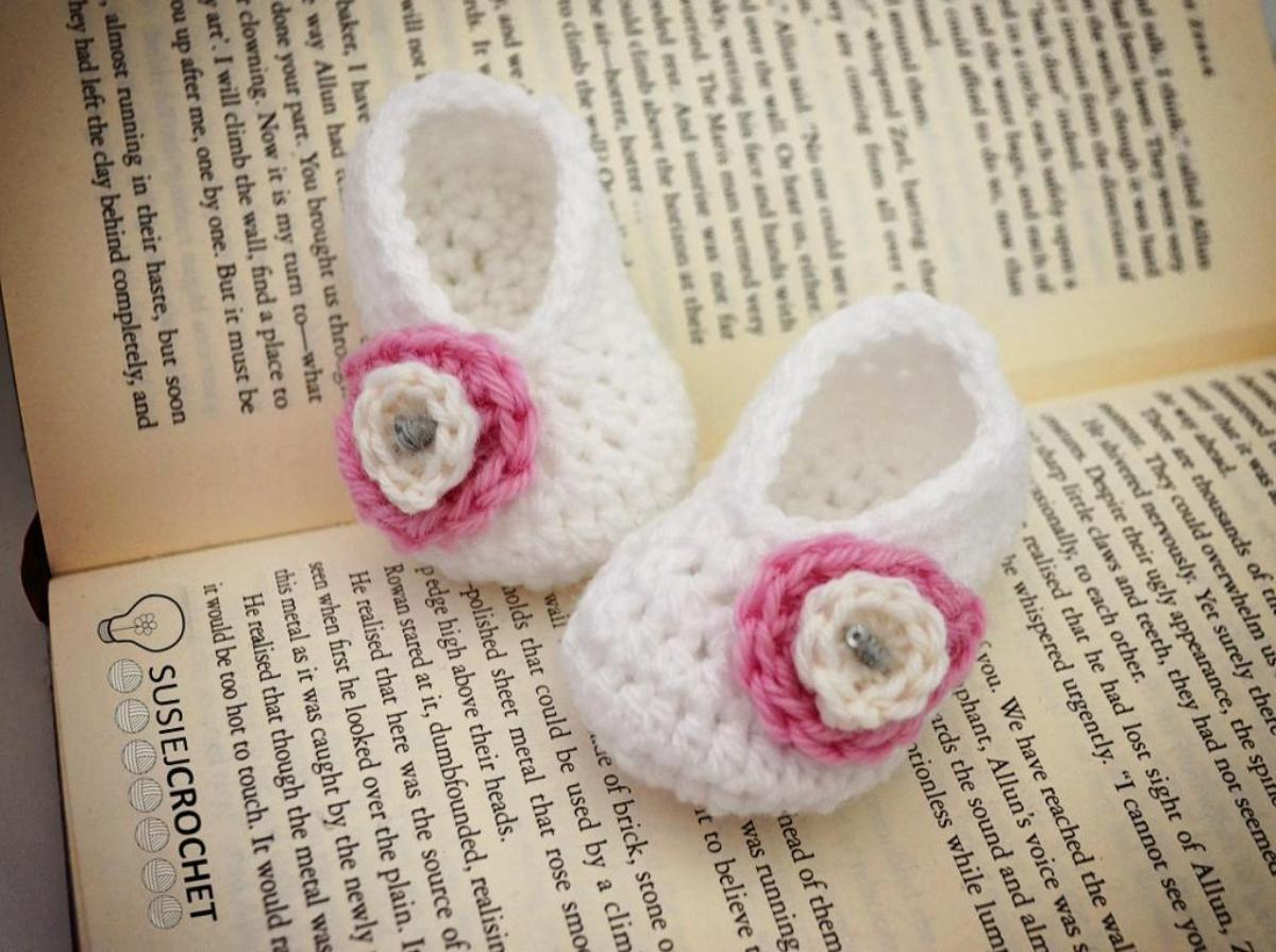 Basic Baby Booties Crochet Pattern