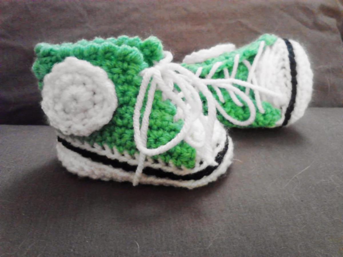 Basketball Baby Booties Crochet Pattern
