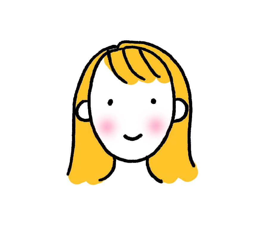 Button ears for a cartoon