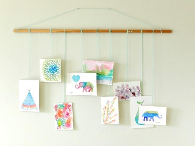 DIY Hanging Artwork Mobile