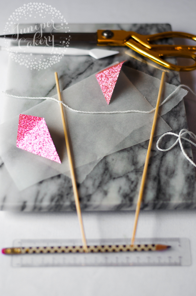 How to create cake bunting flags