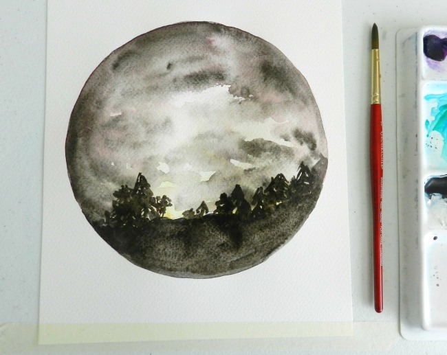 Learn how to paint a cloudy night sky with this Bluprint tutorial