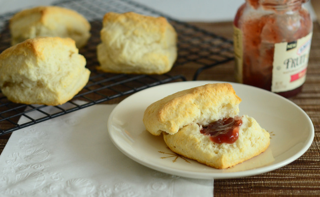 Two-Ingredient Cream Biscuits Recipe