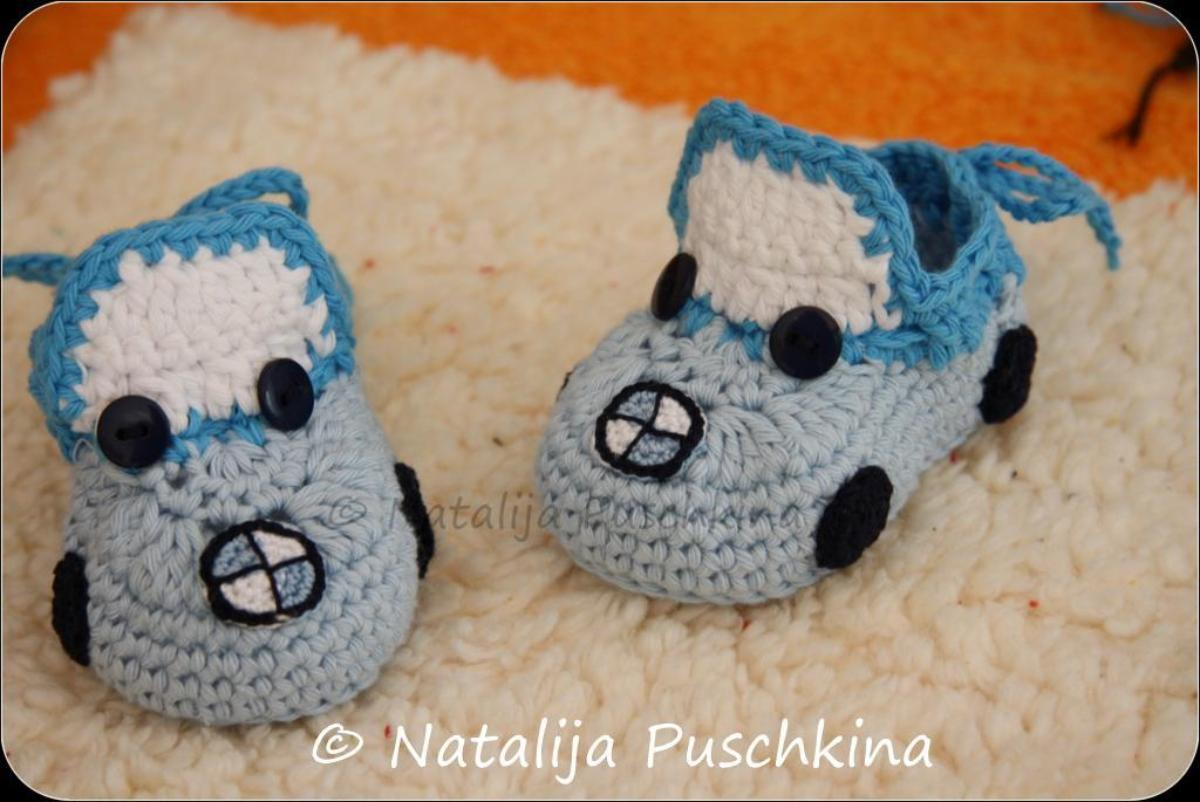 Crochet Baby Booties BMW Cars Pattern
